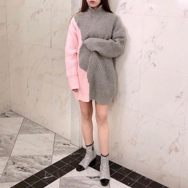 pastel knit mini ops