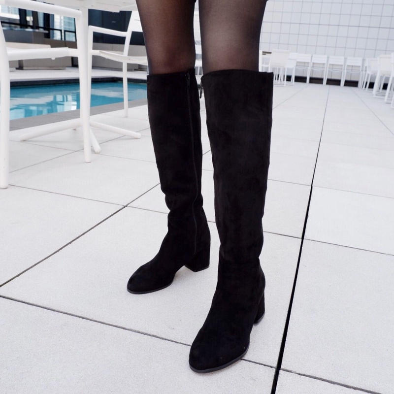 chunky long boots