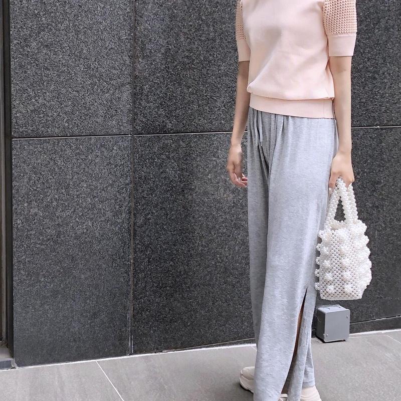 【予約】side slit easy PT / gray