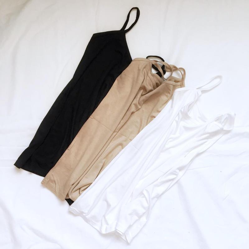 【即納】basic inner(black/beige/white)