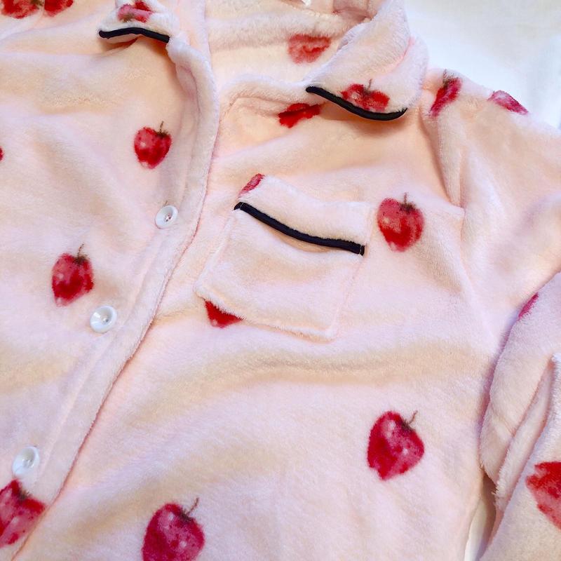 strawberry pajama / pink