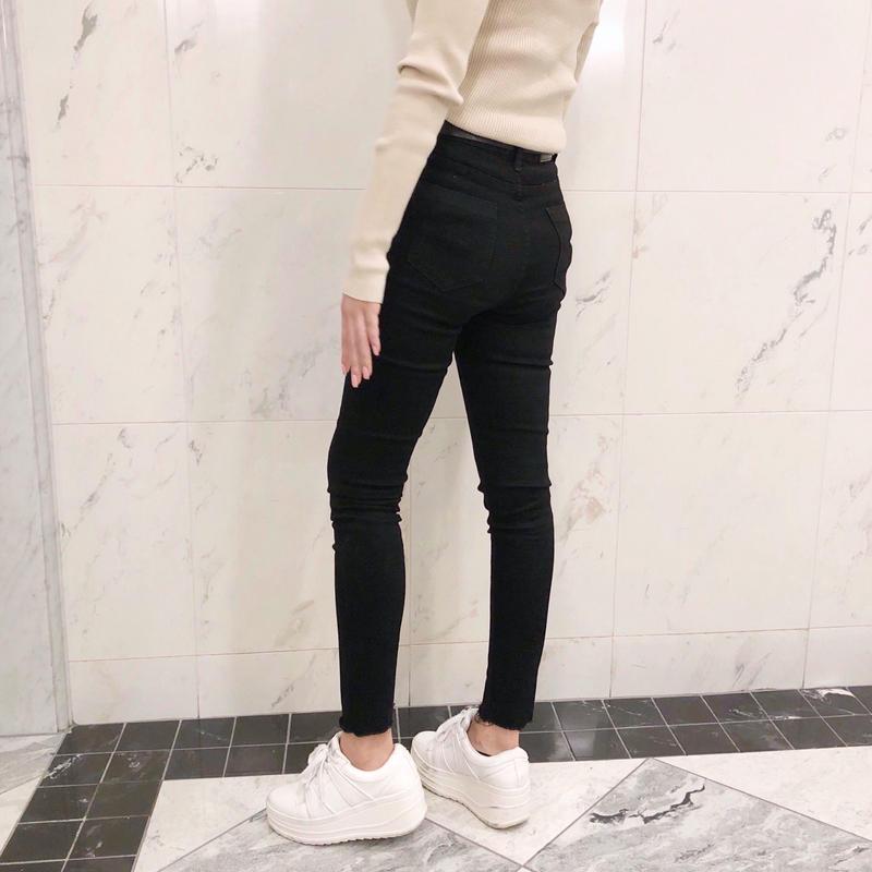cutoff black skinny