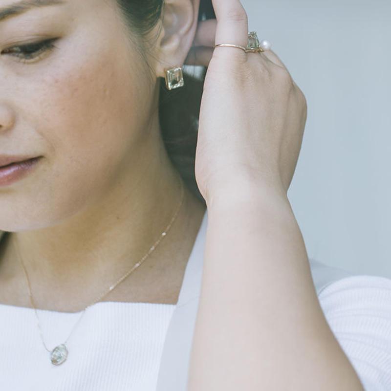 CANDY Earring.Green amethyst 1P売り