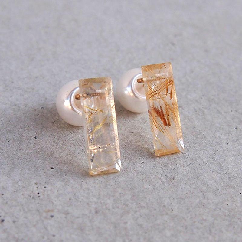 Rutile quartz Candy P ペア