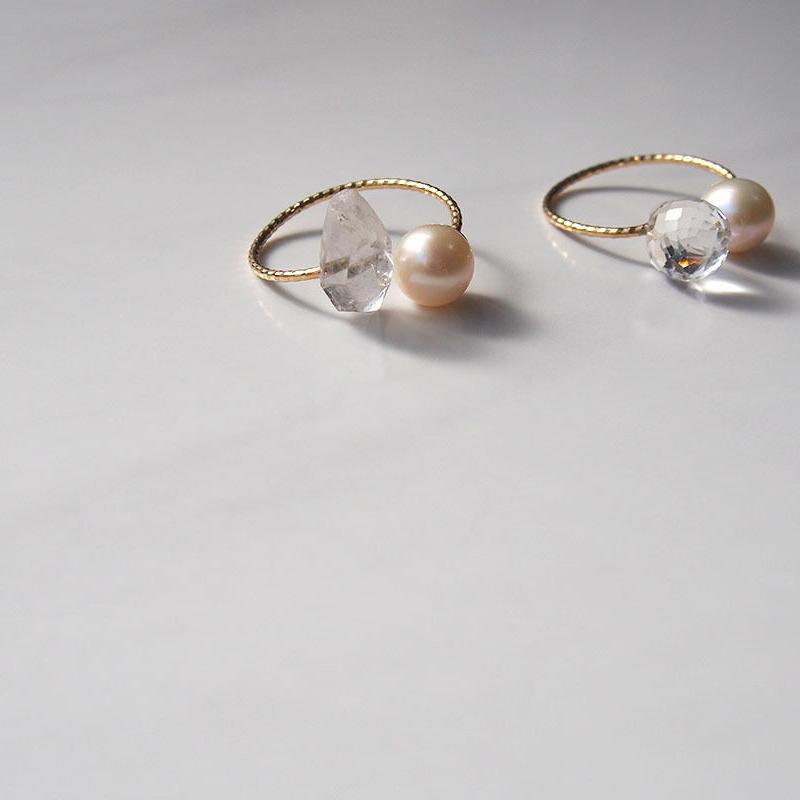 C Ring(K10×pearl×Quartz) 2