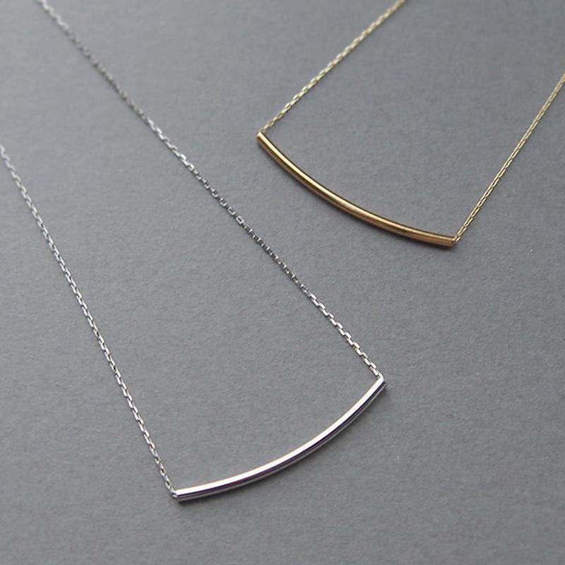 K18 lineネックレス WG/YG