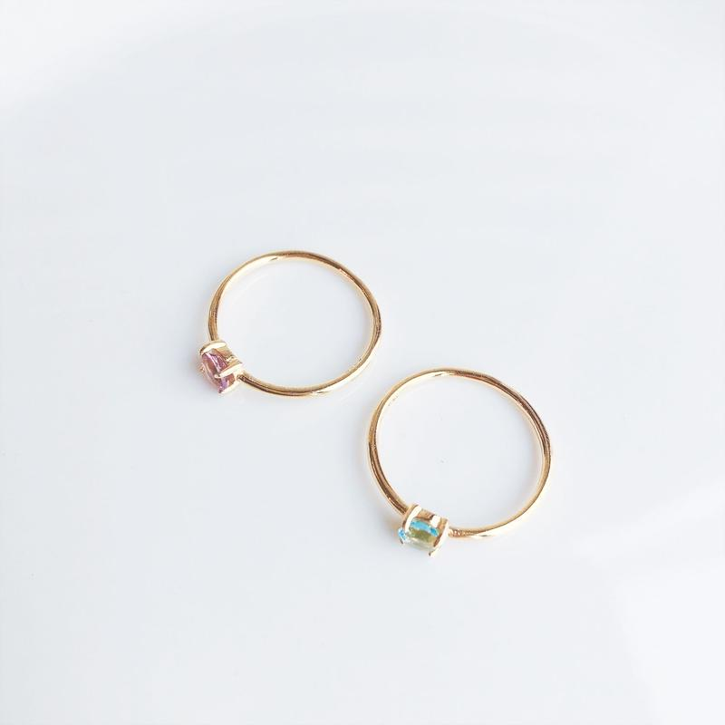 Silver925.Amethyst & Blue topaz ring