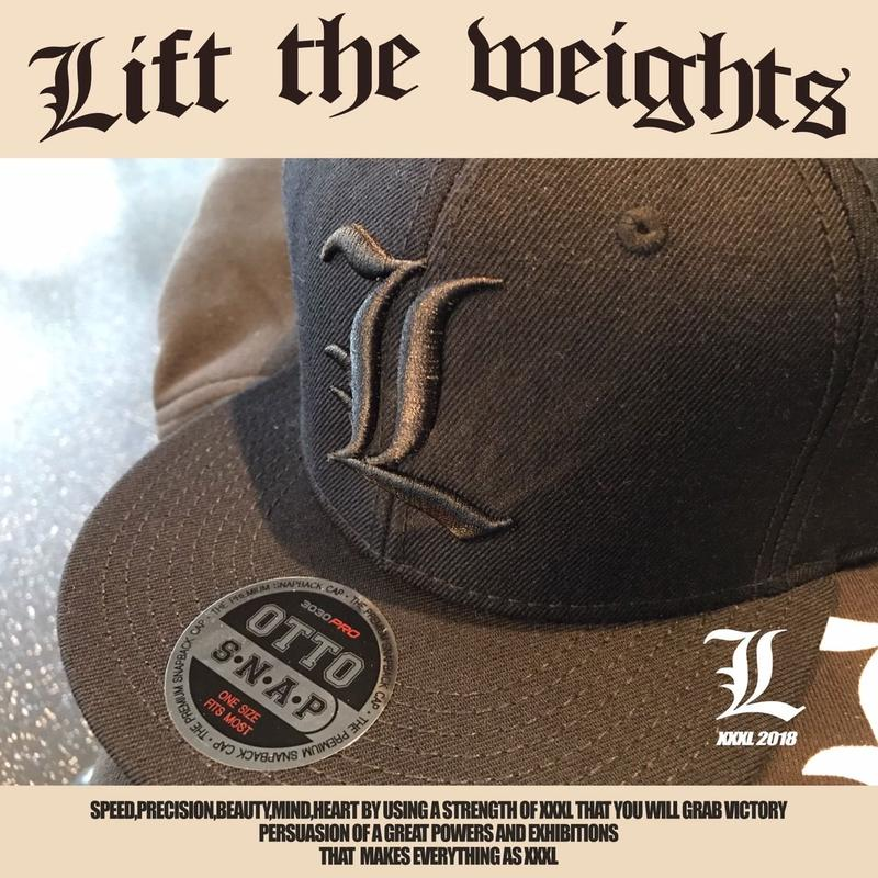 ''Lift the weights''OTTO CAP ALL BLACK
