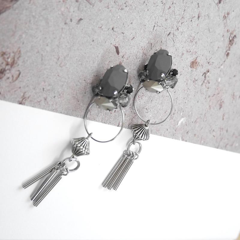 cement pierce/earring  GRAY