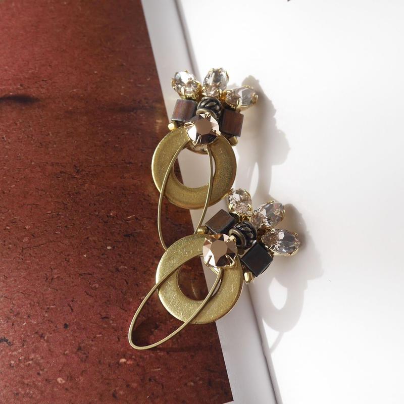 wapaha pierce/earrings BRONZE