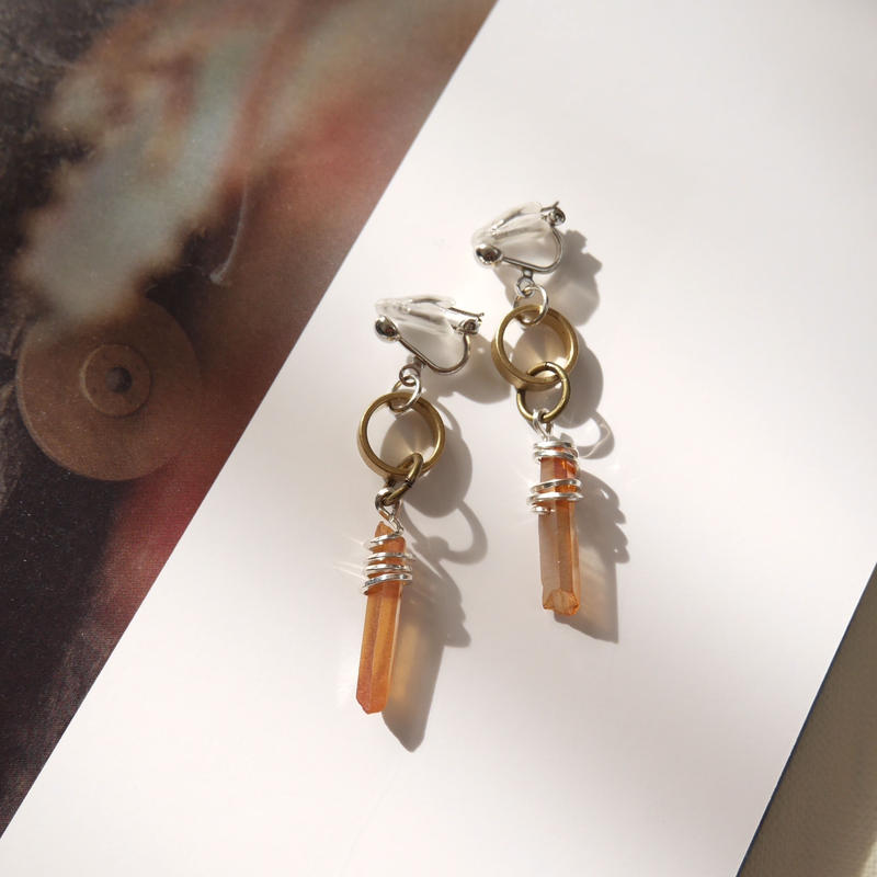crystal pierce/earrings COPPER