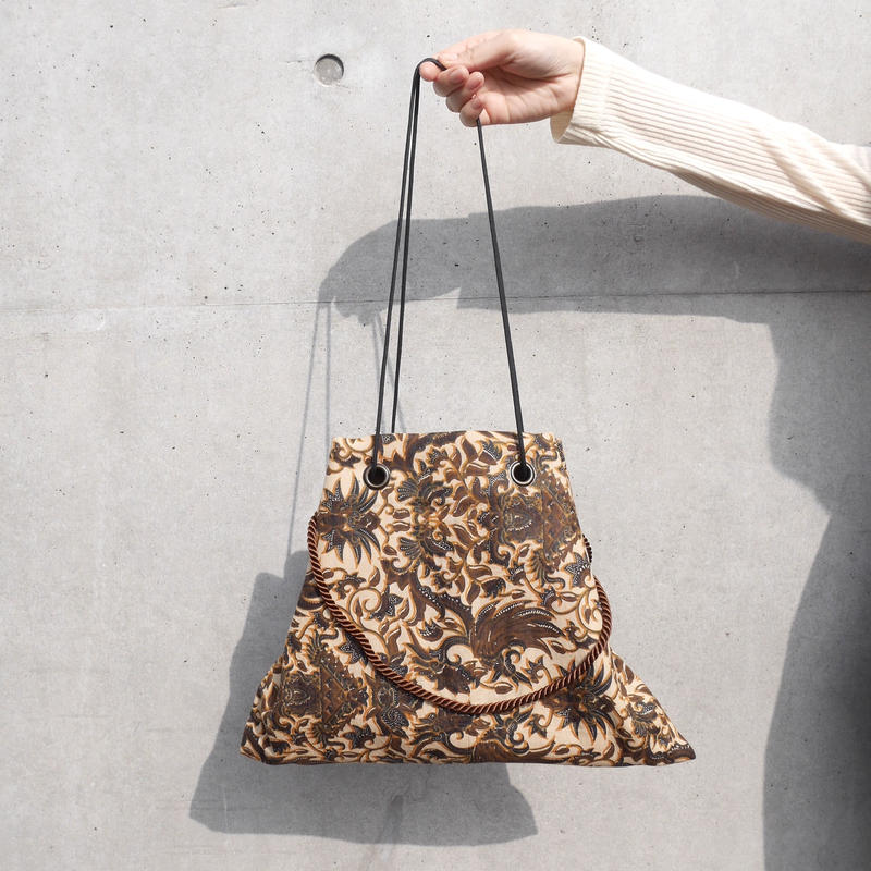 batik 3ways bag DARK BROWN