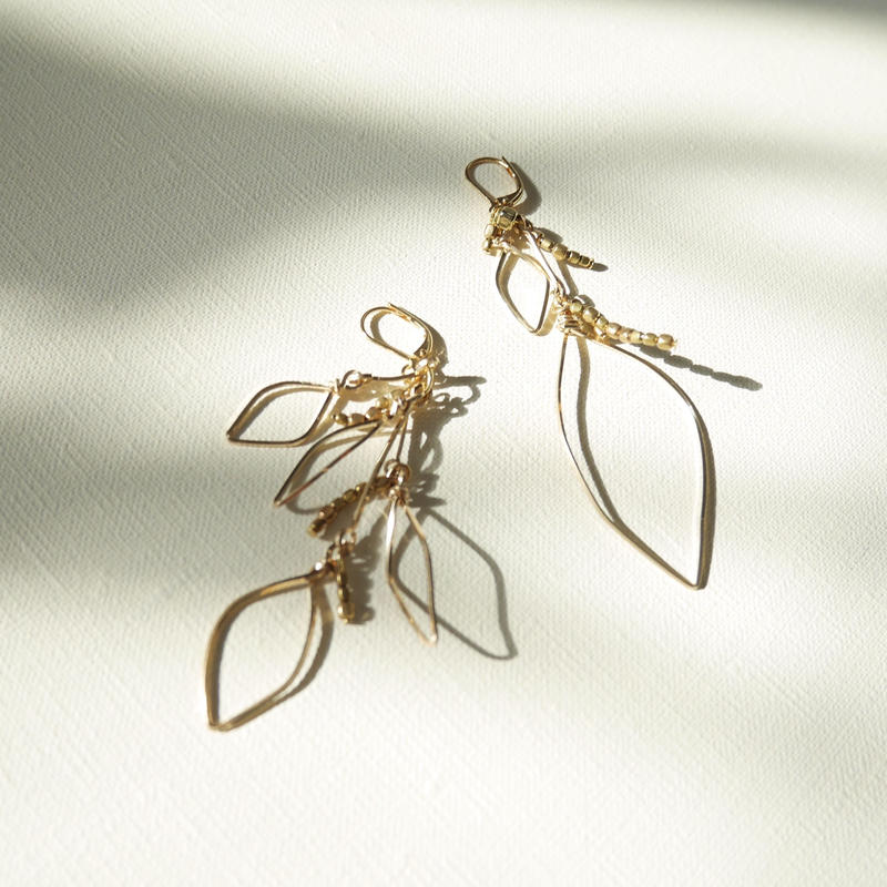 leaf pierce/earrings GOLD