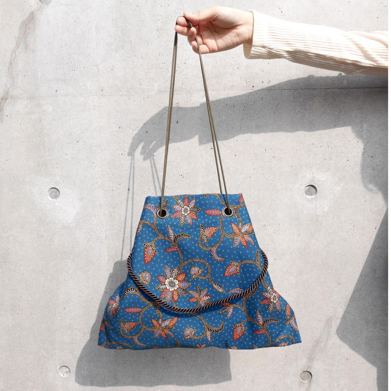 batik 3ways bag  BLUE