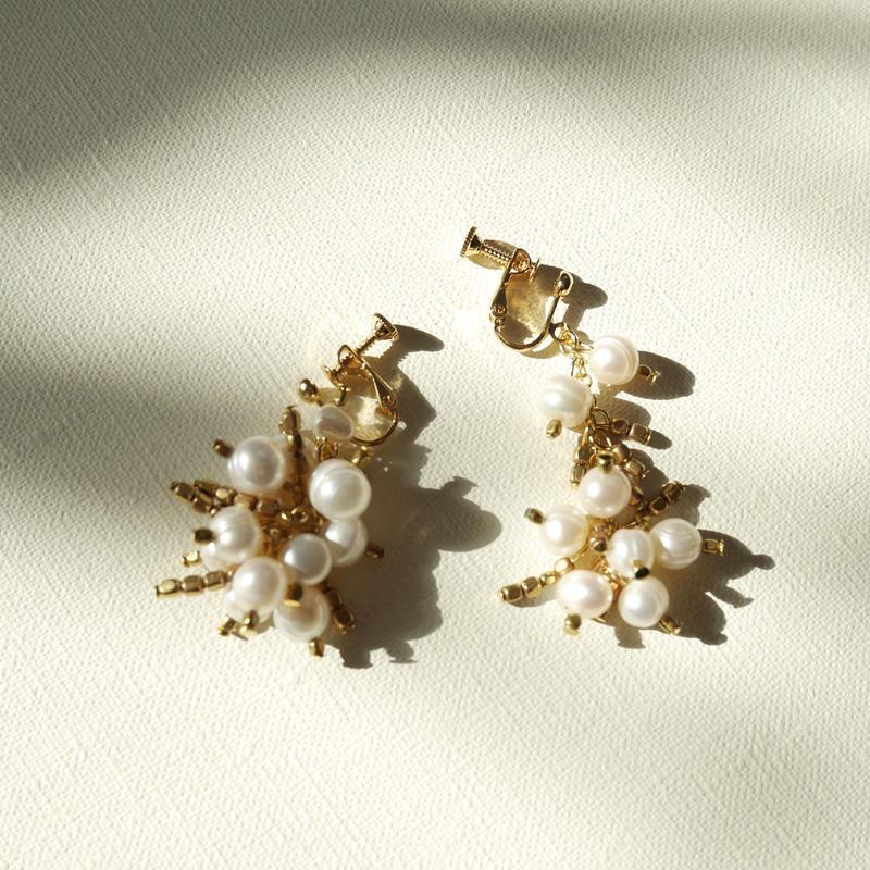 fruits pierce/earrings GOLD