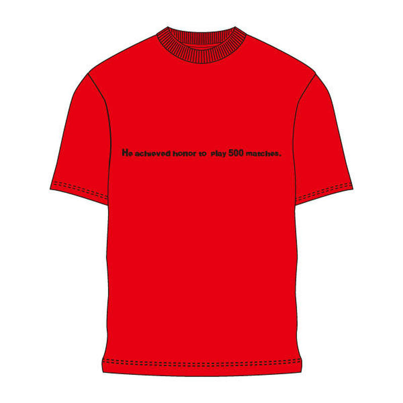 500試合出場記念Tシャツ TS02