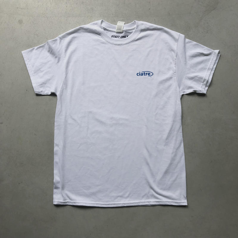 ciatre uniform tee S/S STAFF ONLY WHT