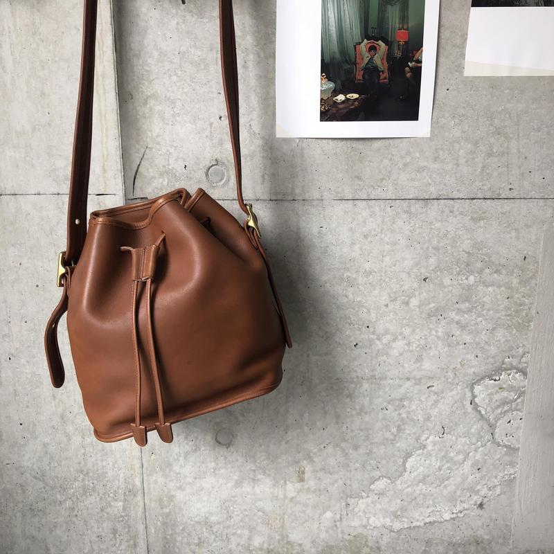 Old COACH Grab Leather Purse Shoulder Bag Brown
