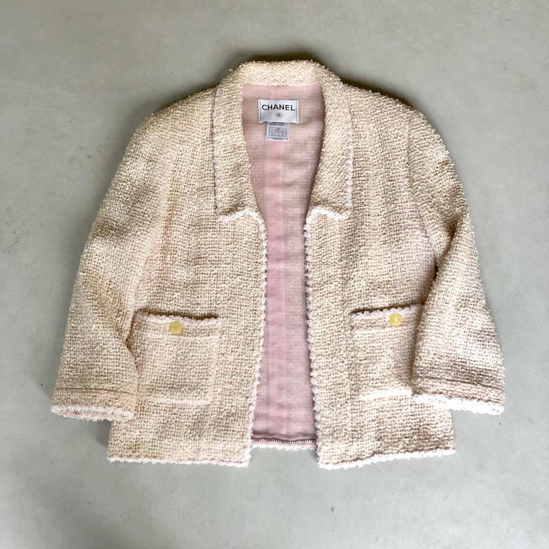 vintage CHANEL Tweed Jacket 1999
