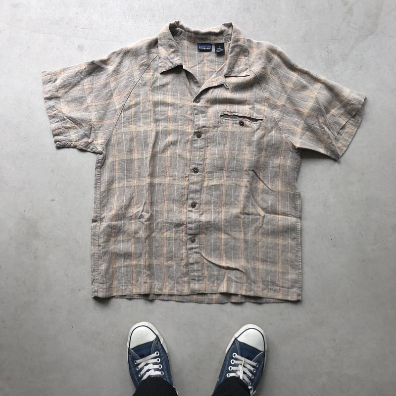 2001s Patagonia S/S Open Collar Check Shirt