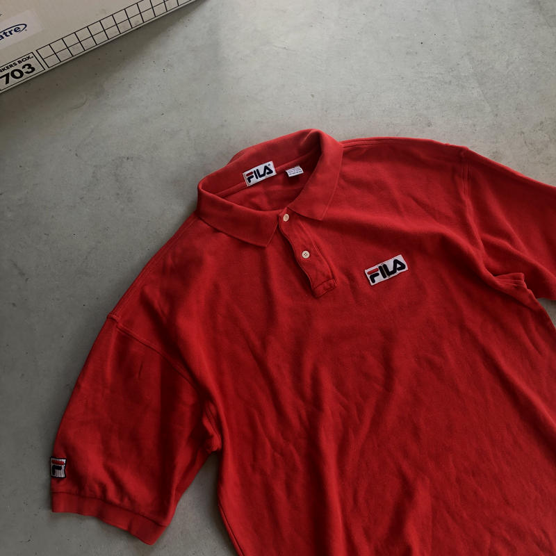 90s FILA S/S Polo Shirt