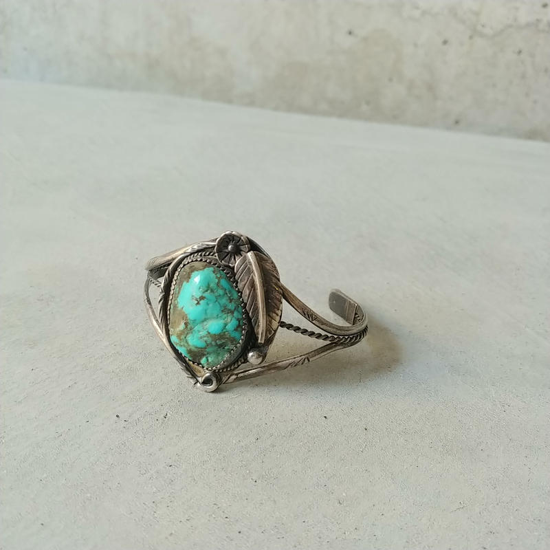 Old Turquoise Silver Bangle Navajo