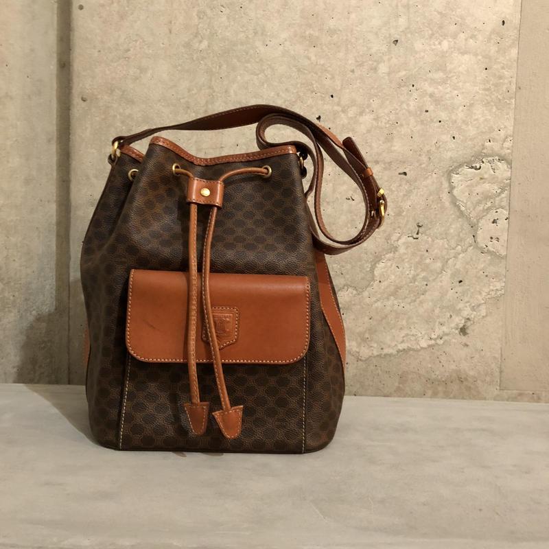 Old CELINE Macadam Bucket Shoulder Bag