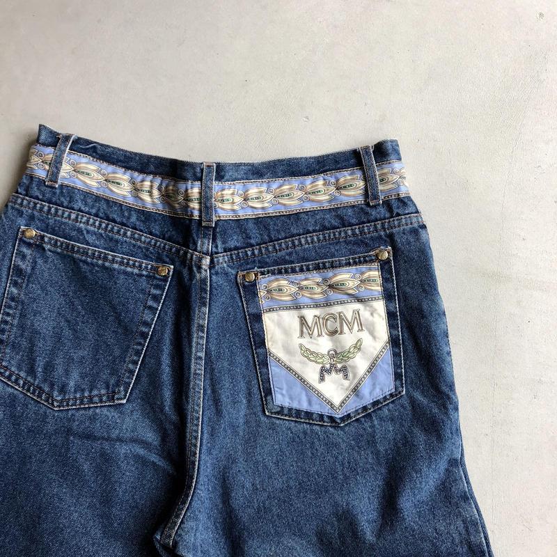 90s- MCM 5P Denim Pants