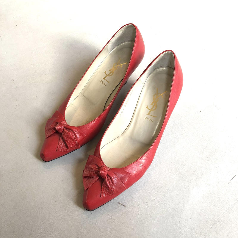 Old YVES SAINT LAURENT Ribbon Pumps