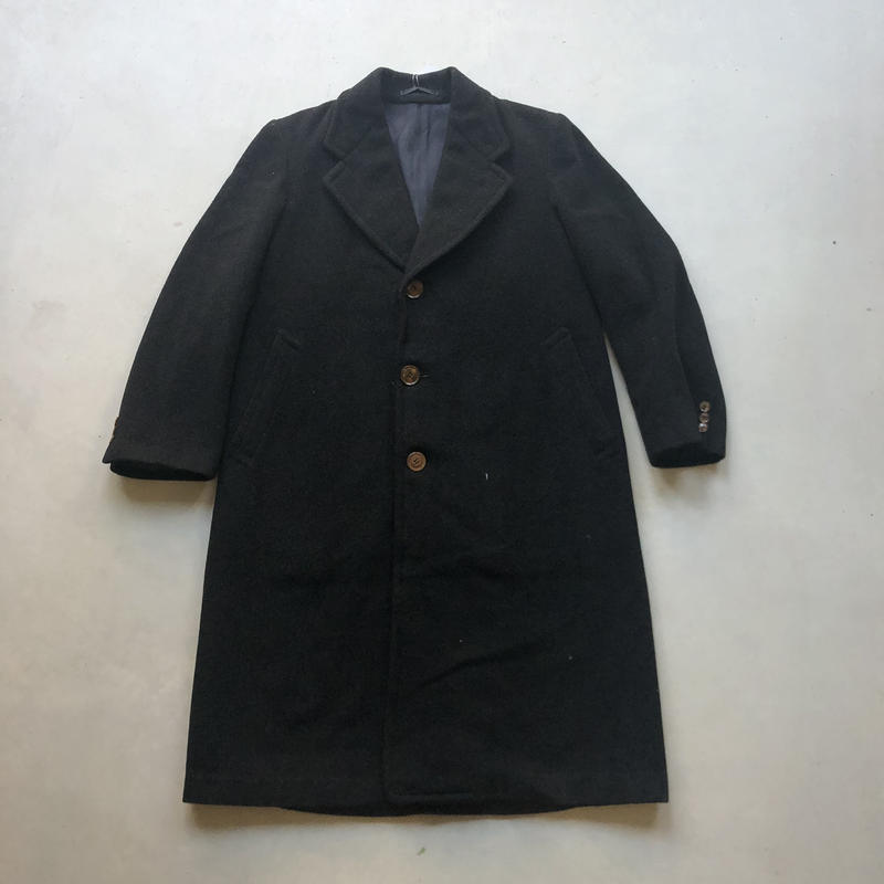 Old Wool Balmacaan Coat