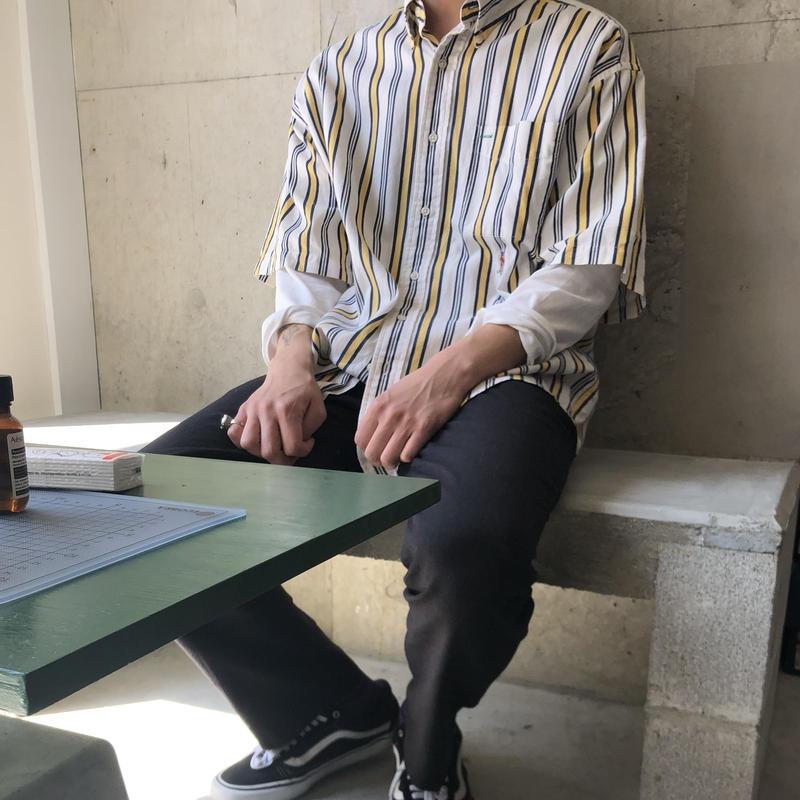 90s TOMMY HILFIGER Stripe S/S Shirt