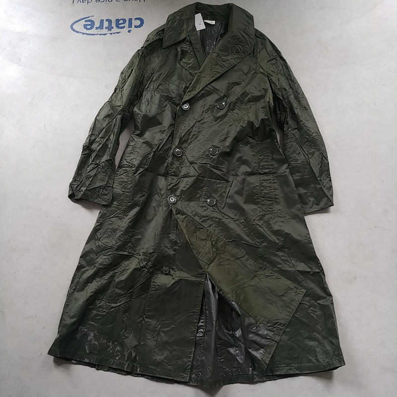 60s U.S.ARMY Nylon Rubber Coat Green Shade M-2
