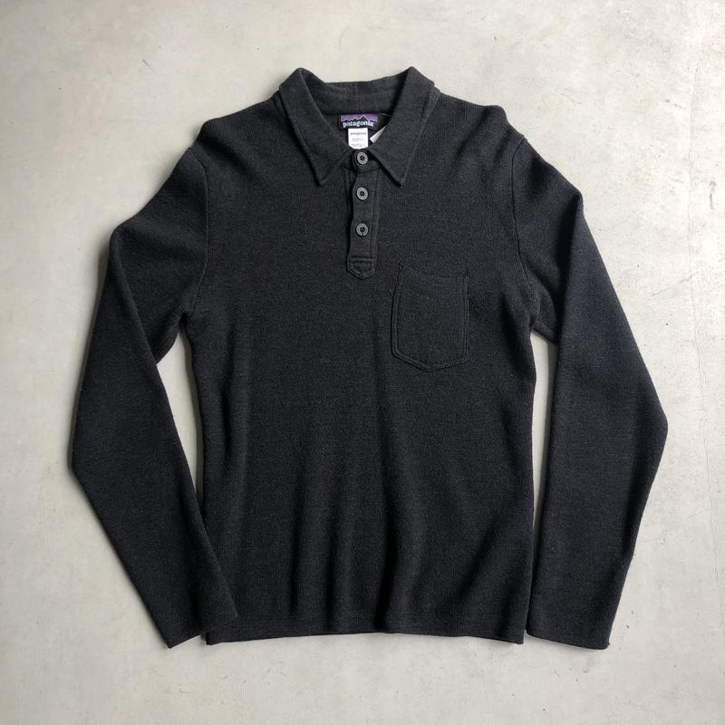 00s patagonia Knit L/S Polo Shirt