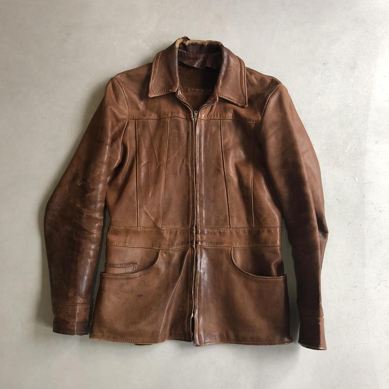 70s Natural Comfort Craft Leather Jacket