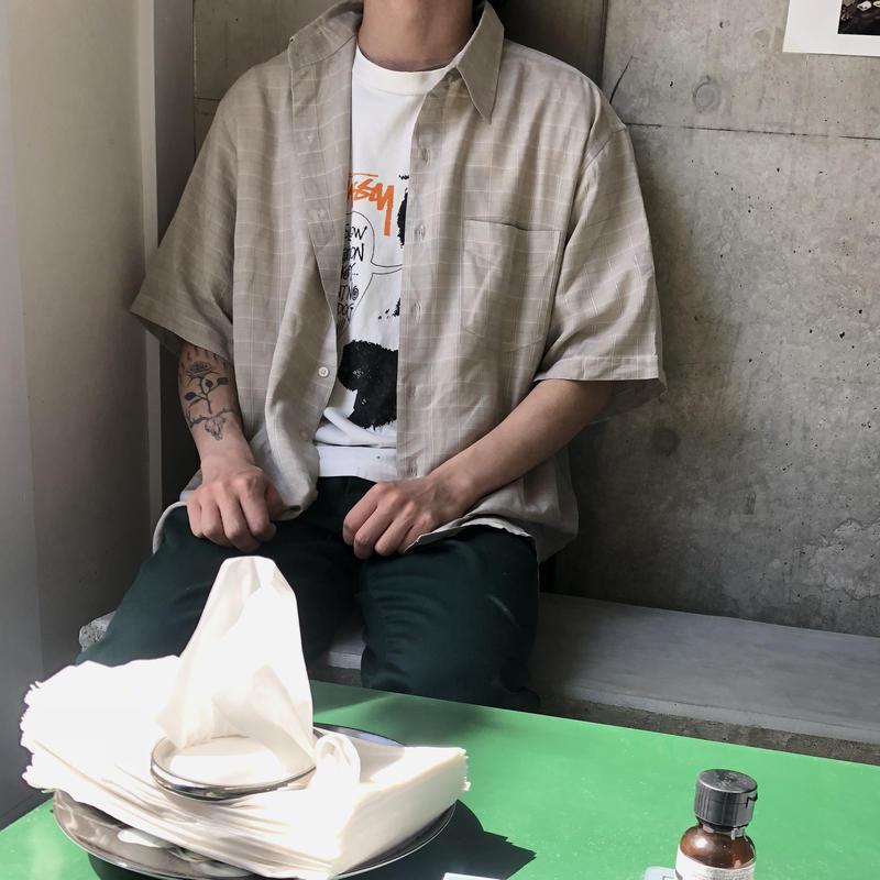 90s puritan S/S Check Shirt