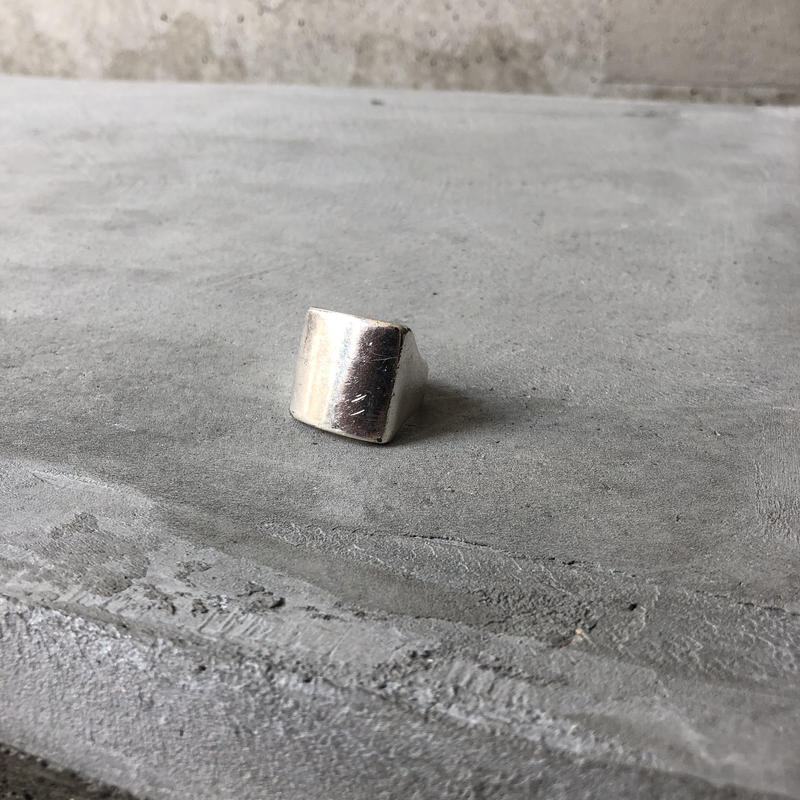 Square Silver Sample Ring