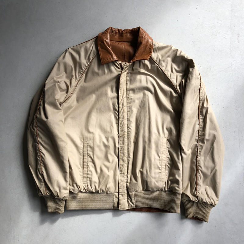 80s GOLDEN STATE Reversible Leather Jacket