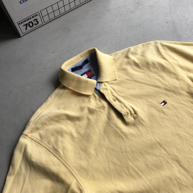 90s~ TOMMY HELFIGER S/S Polo Shirt YLW