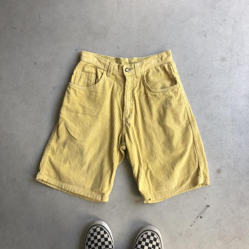 90s Billa Bong Corduroy Shorts YLW