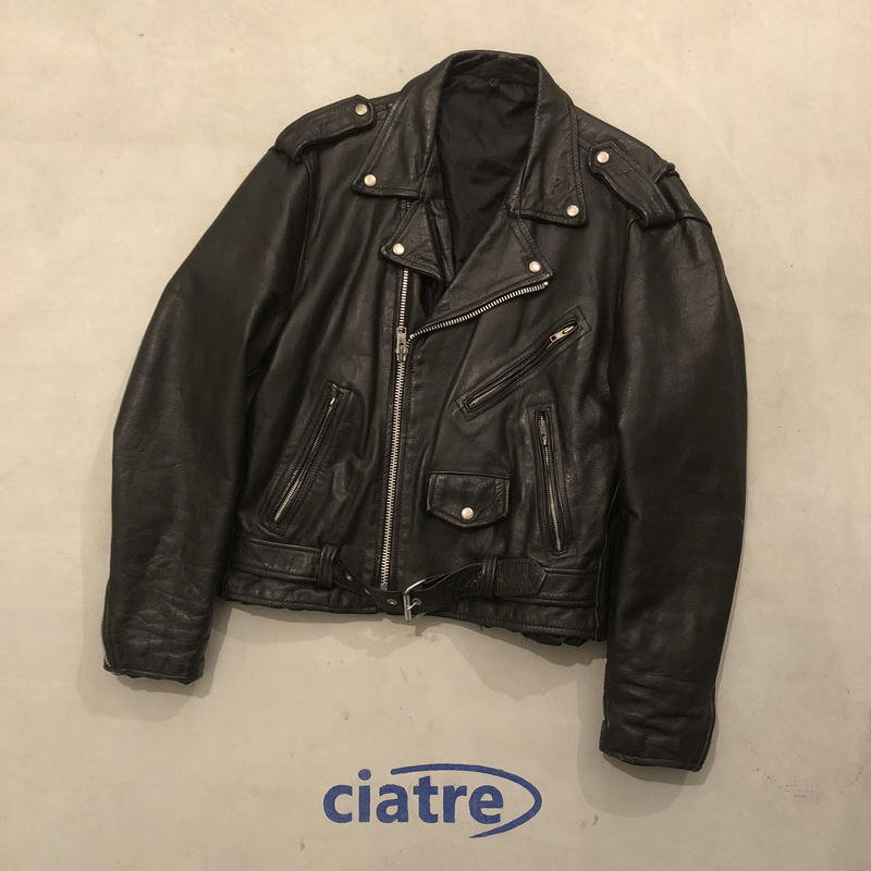 Vintage Double Leather Riders Jacket