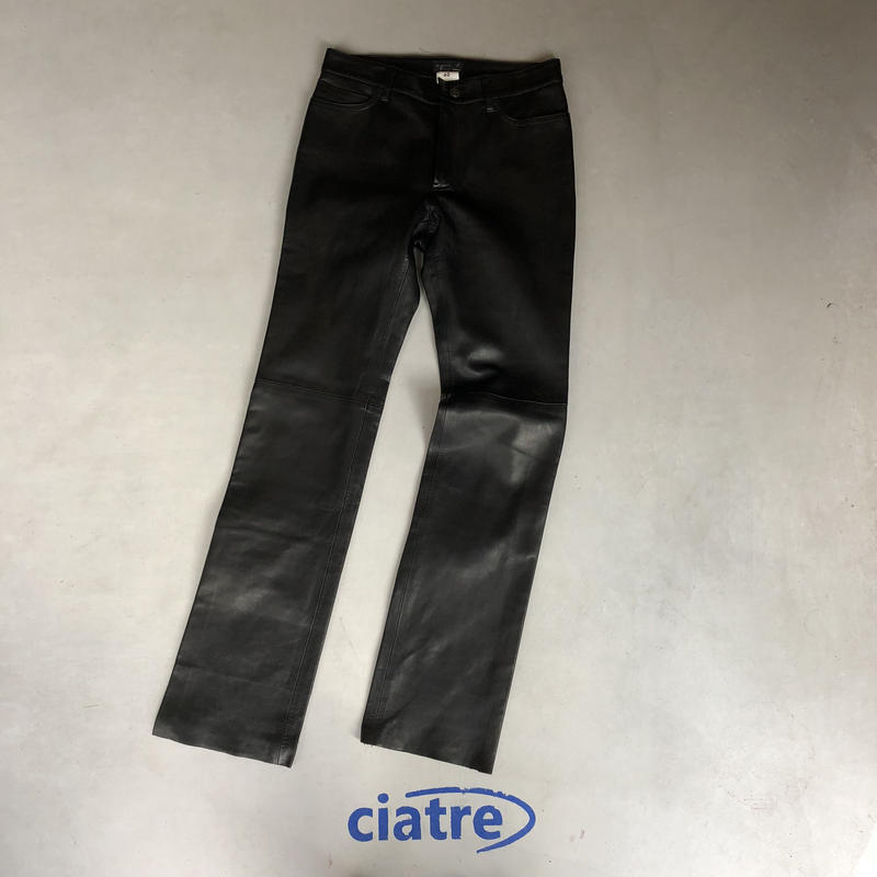90s agnesb leather pant france made