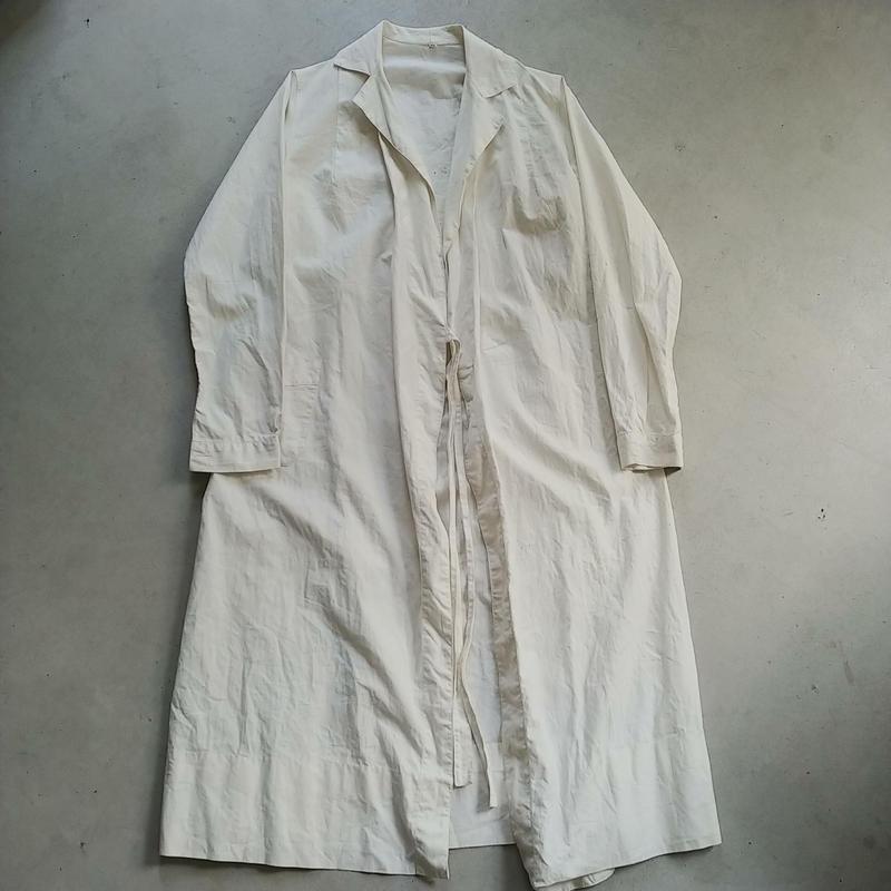 Euro Vintage White Gown Coat