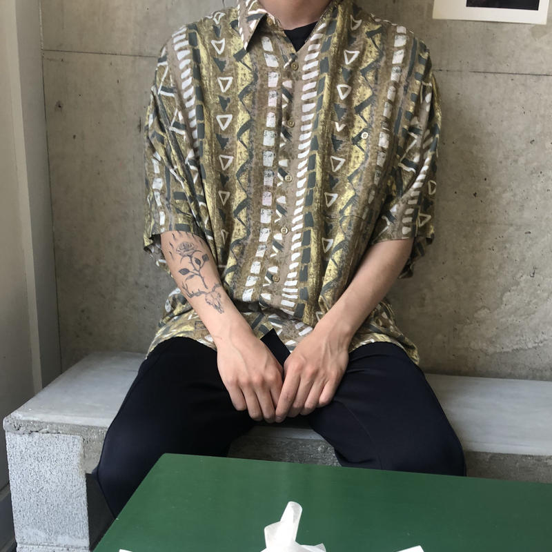 80s~ UNTIED Rayon S/S Shirt