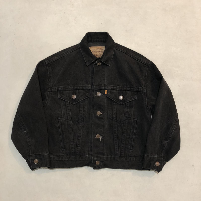 80s- Levis denim jacket BLK