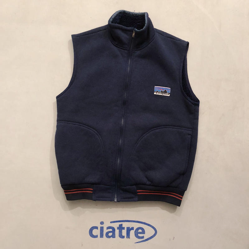 70s patagonia boa vest