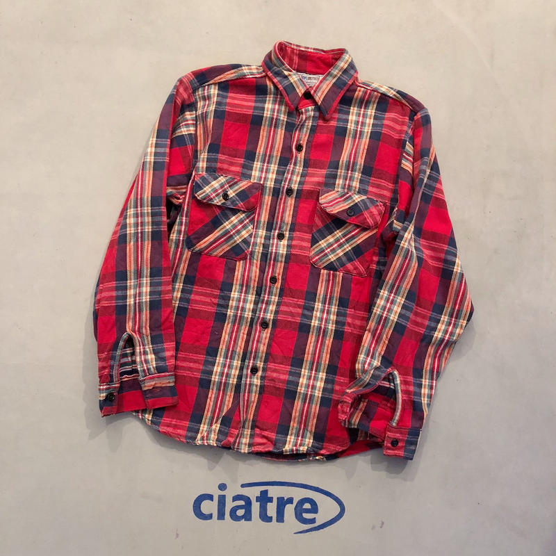 70s- 80s FIVE BROTHER check shirt