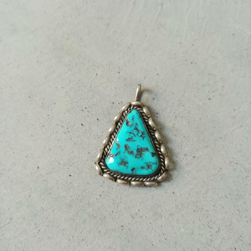 Old Turquoise Silver Top Navajo