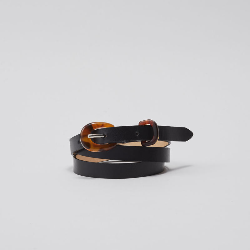 tov Bekko Buckle Leather Belt(Black)