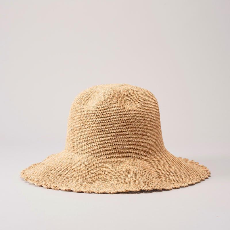 ADD CULUMN Scallop Paper Hat 25MOC No.A19S9H01