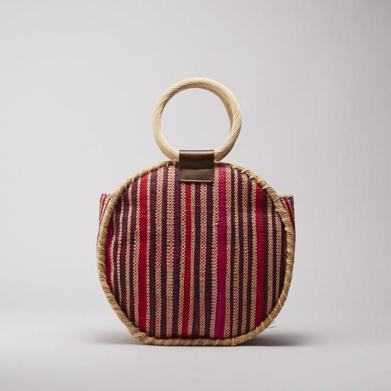 EleSac RAFFIA SHEET ROUND BAG 16RED No.E19S7B03